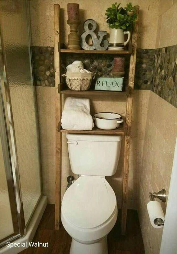 over the toilet ladder shelf choose color stain paint bathroom storage leaning ladder shelf. Black Bedroom Furniture Sets. Home Design Ideas