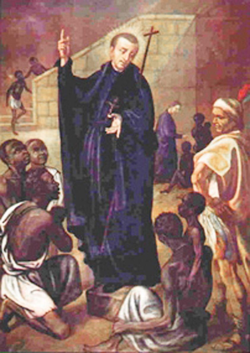 San Pedro Claver, enseñando a los esclavos donde está la