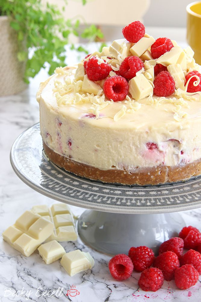 My Gluten Free White Chocolate And Raspberry Cheesecake Recipe No Bake Raspberry Cheesecake Recipe Chocolate Cheesecake Recipes Cheesecake Recipes