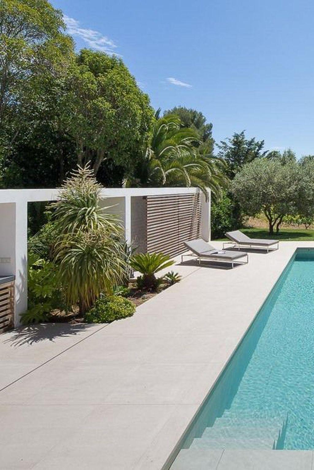 31 Cute Cabana Swimming Pool Design Ideas That Looks Charming In 2020 Pool Landscape Design Pool Landscaping Backyard Pool