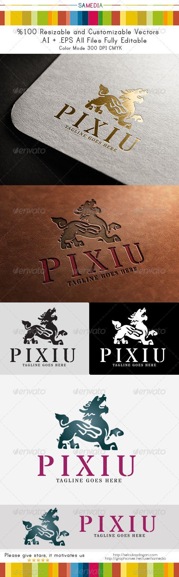 Pixiu Logo Template PSD logo template, army, club