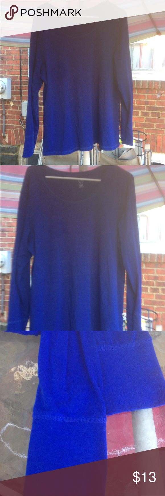 Blue long sleeved tunic by a.n.a NICE! Gently used long sleeved blue shirt by A.n.a.  Size is 2x. Nice and comfy cozy. Pair with some jeans and you're good to go. a.n.a Tops Tees - Long Sleeve