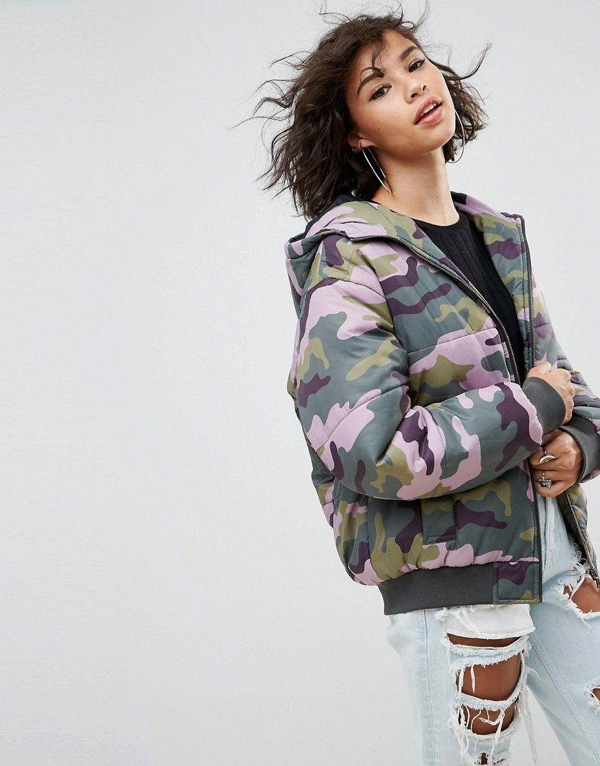 Asos Wattierte Bomberjacke Mit Military Muster Mehrfarbig Jetzt Bestellen Unter Https Mode Ladendirekt De Damen Bek Jacken Frauen Bomberjacke Bekleidung