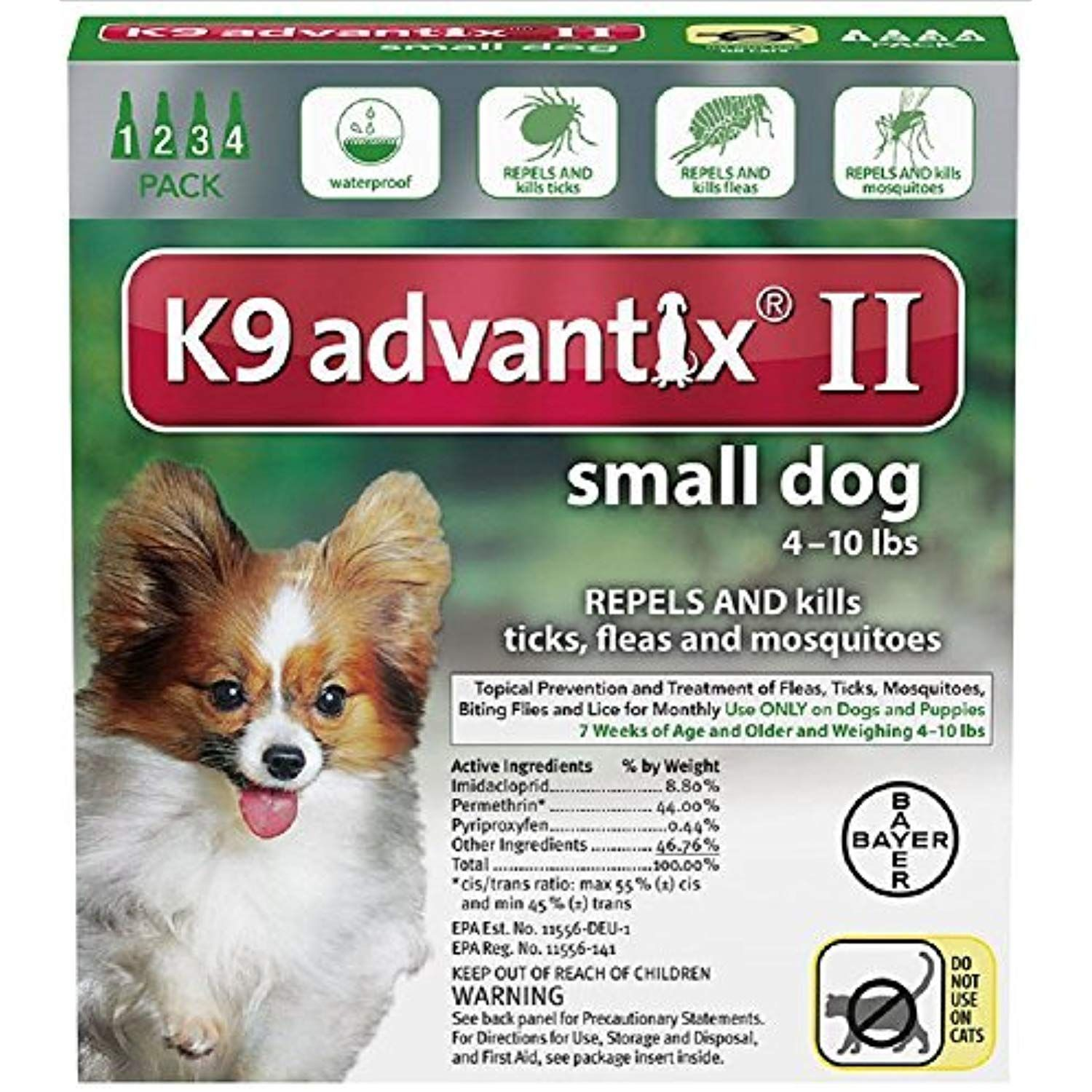 Ax Advantixii Dog 4mon 4 10lb Grn Click Image To Review More Details This Is An Affiliate Link Dogs Kill Fleas On Dogs Small Dogs Fleas