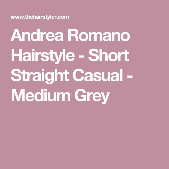Andrea Romano  Hairstyle - Short Straight Casual - Medium Grey