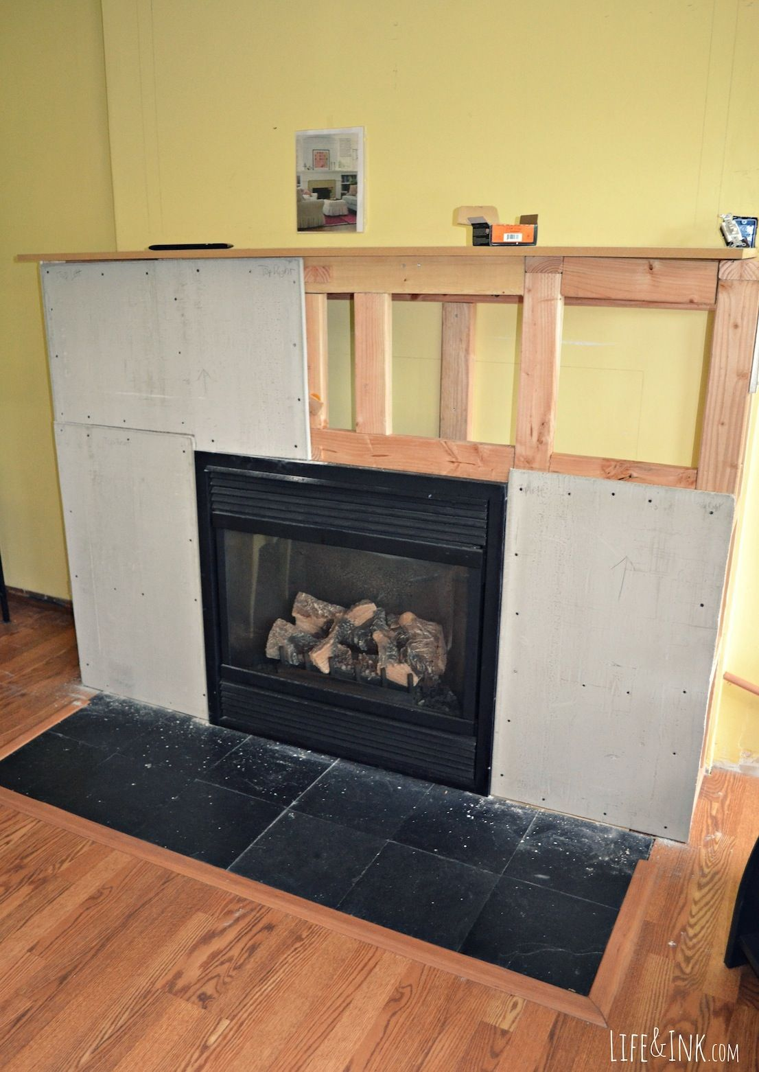 cement board installation | Foyers | Pinterest | Cement, Fireplace ...
