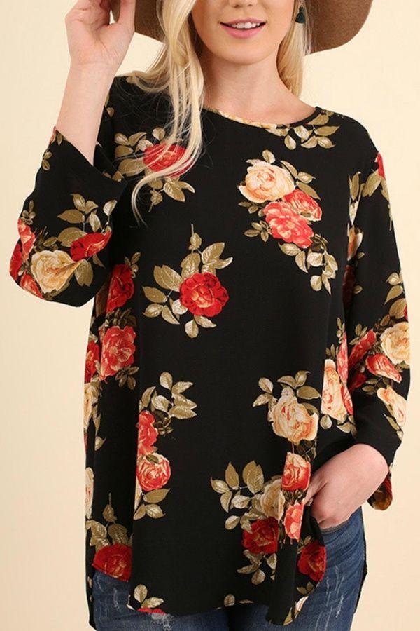 55ccb515b7c Umgee USA Floral Bohemian Blouse in 2018