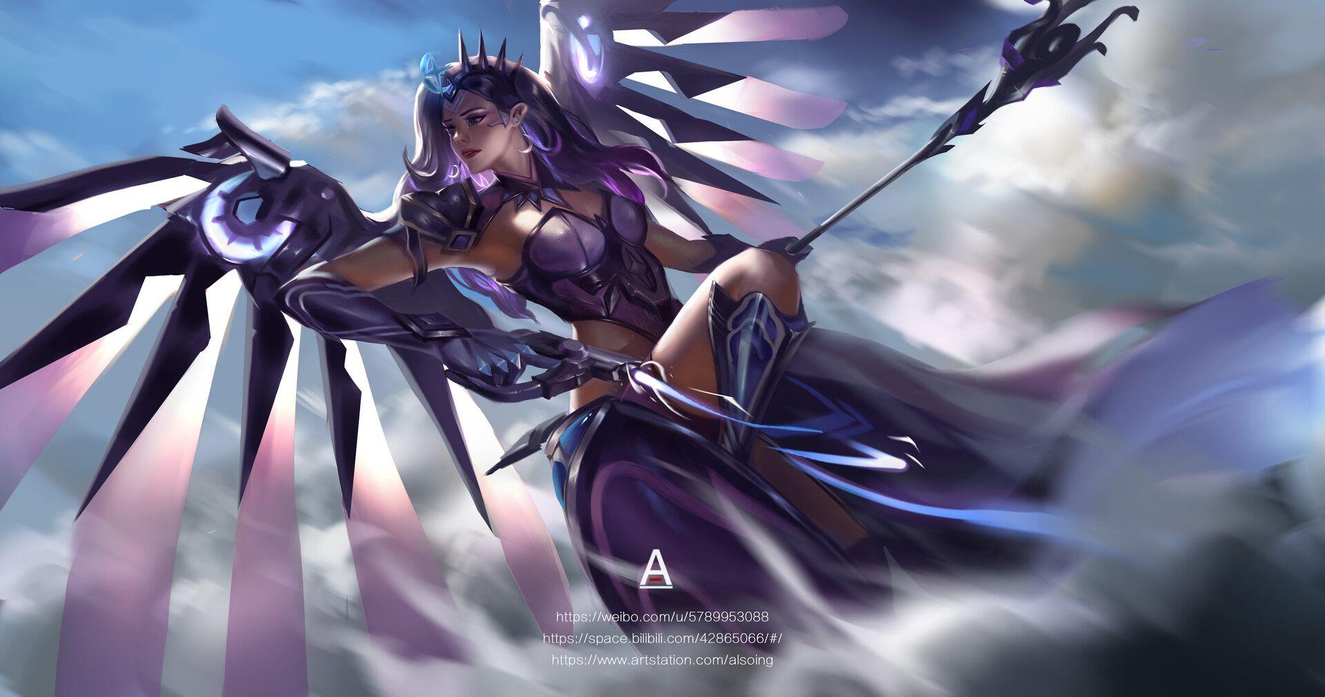 Artstation Mercy 天使 Al So Overwatch Wallpapers Mercy Overwatch Overwatch Fan Art