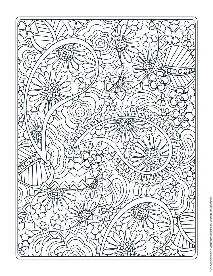 Flower Designs Coloring Book Pattern Coloring Pages Coloring