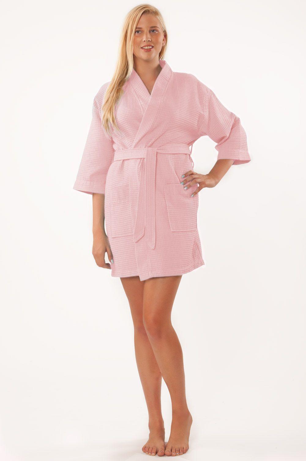 Waffle Kimono Pink Short Robe Square Pattern   Wedding Ideas <33 ...