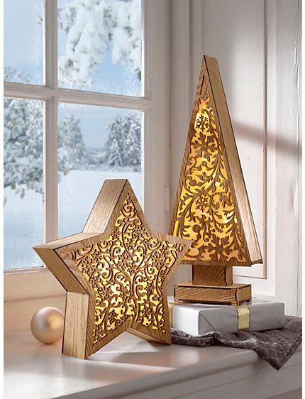 Led deko stern oder tanne wir weihnachten pinterest christmas time - Led deko tanne ...