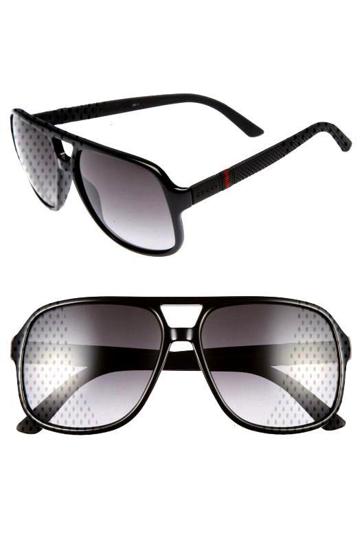 Logo Temple 59mm Aviator Sunglasses