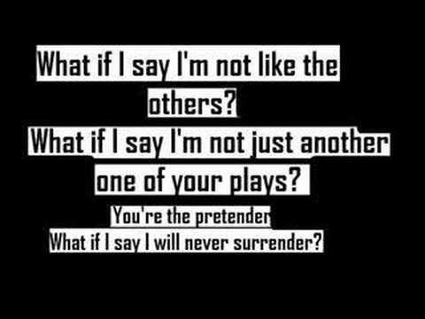 51720fba1 Foo Fighters-The Pretender-Lyric - YouTube   Music   Foo fighters ...