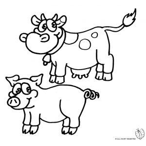 Disegno Di Animali Della Fattoria Da Colorare Per Bambini Gratis Disegnidacolorareonline Com Disegno Di Animali Animali Disegni