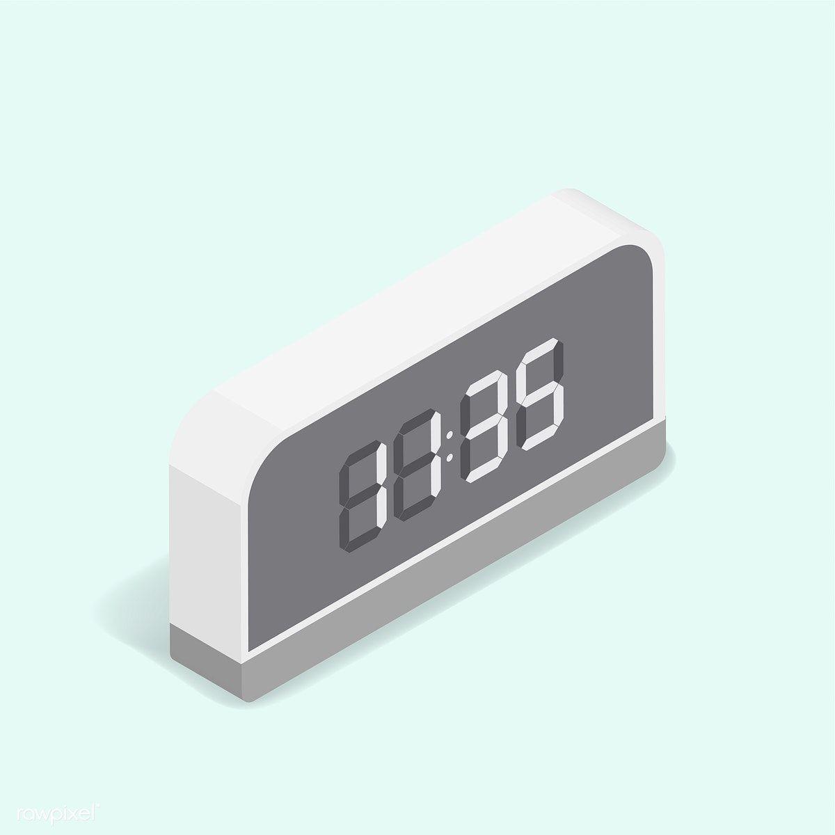 Vector Image Of Digital Alarm Clock Icon Free Image By Rawpixel Com Clock Icon Clock Digital Alarm Clock