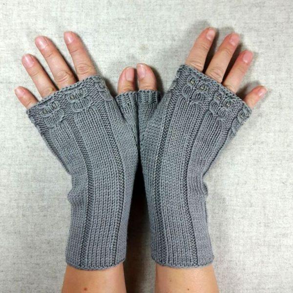 Damen Lang Handschuhe Handstulpen Pulswärmer Wolle Winter Stricken Armstulpen