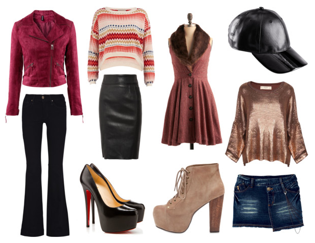 Day to Night: H&M, Louboutin, Jeffrey Campbell, Vintage: www.thetrendfile.com