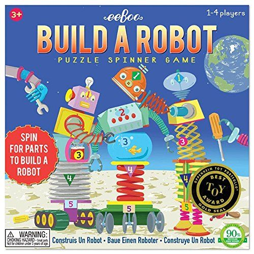 Eeboo Build a Robot Spinner Game ** You can find out more details at the link of the image. Note:It is Affiliate Link to Amazon.
