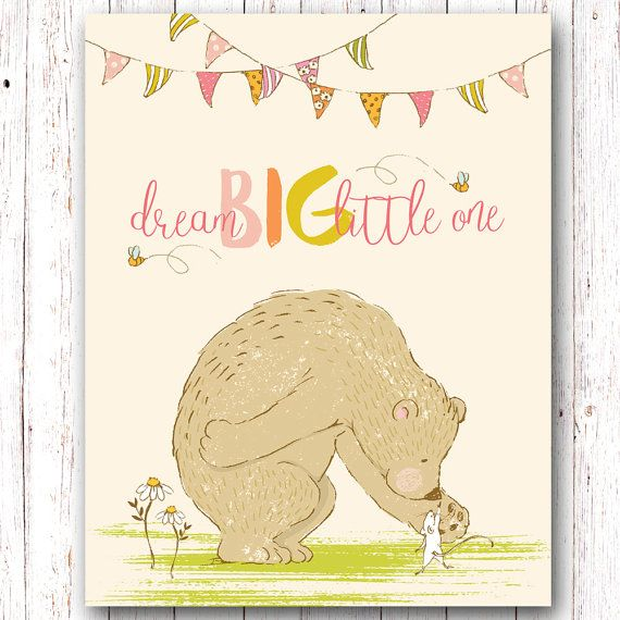 Dream Big Little One, Dream Big Little One Print, Dream Big Little ...