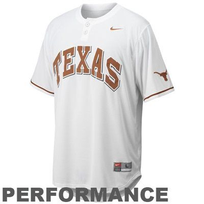 1fc5217ace8 Nike Texas Longhorns White Performance Replica Baseball Jersey