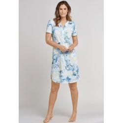 Photo of Nightdress short-sleeved V-neck floral print aqua – Rise Up 38