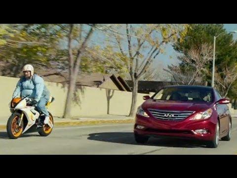 "A car ad that finally communicates a benefit of a product. 2013 Hyundai Sonata Turbo | Big Game Ad | ""Stuck"""