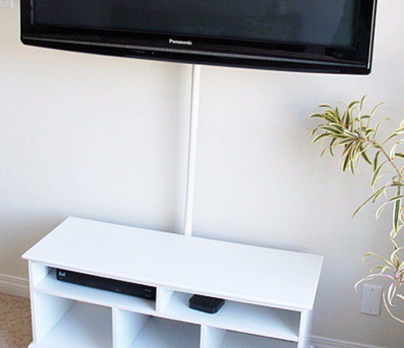 hide tv cords with shower rod | Homes | Pinterest | Hide tv, Shower ...