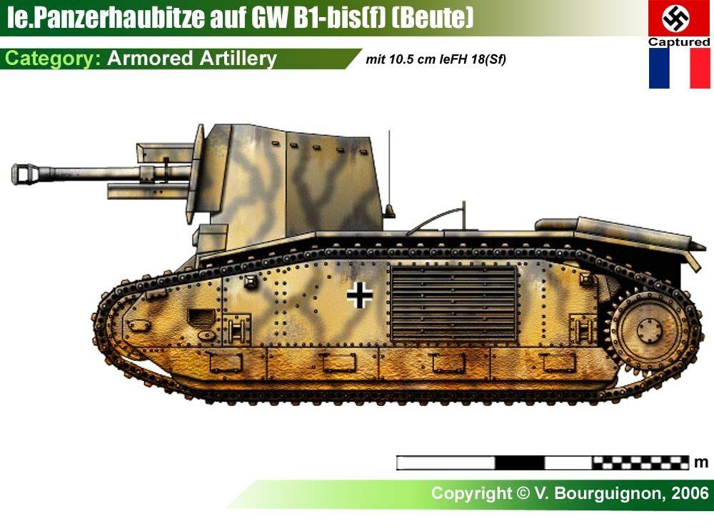 10.5cm leFH18 auf GW B-2(f)