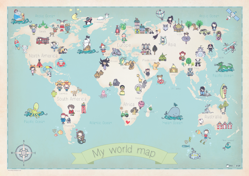 World map poster the colour jar online shop i want those pics world map poster the colour jar online shop gumiabroncs Gallery