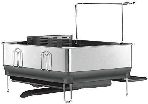 Best Simplehuman Compact Steel Frame Dishrack With Wineglass 400 x 300