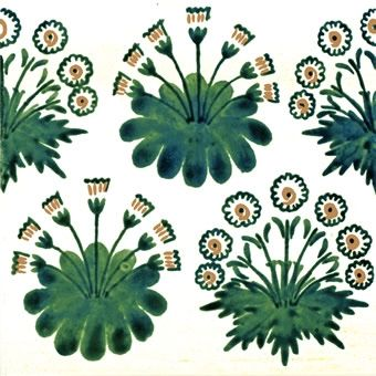 William Morris Green Daisy Tile 10 Tiles For Wall Or Fireplace