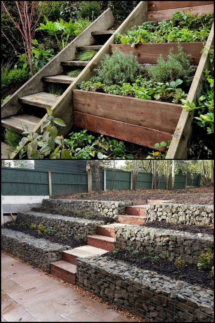 Sloped garden #slopinggardendesigns | Sloped garden ...