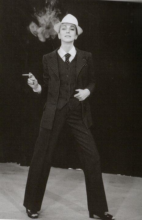 Afbeeldingsresultaat voor pinstripe pant suit YSL 1967