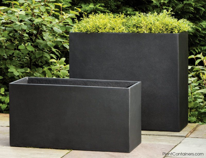 Fusion Collection Tall Rectangular Planters Enlargement Image Rectangular Planters Outdoor Planters Modern Landscaping