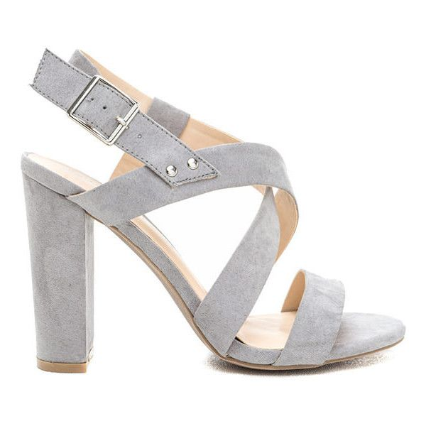 So Strappy Crisscrossed Chunky Heels (€18) ❤ liked on Polyvore ...