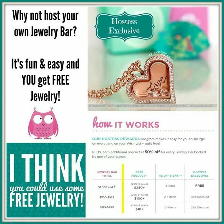 origami owl hostess rewards free message me at