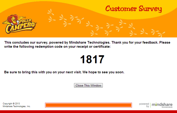 Pollo Campero Customer Satisfaction Survey WwwPollocamperosurvey