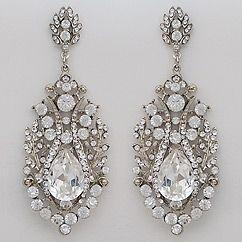 Vintage old Hollywood glam crystal bridal chandelier earrings ...