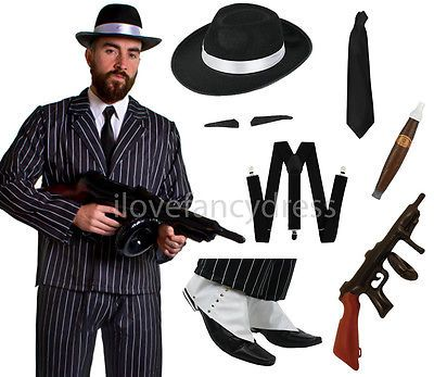 FANCY DRESS COSTUME ~ 1920/'S DELUXE GANGSTER MAN