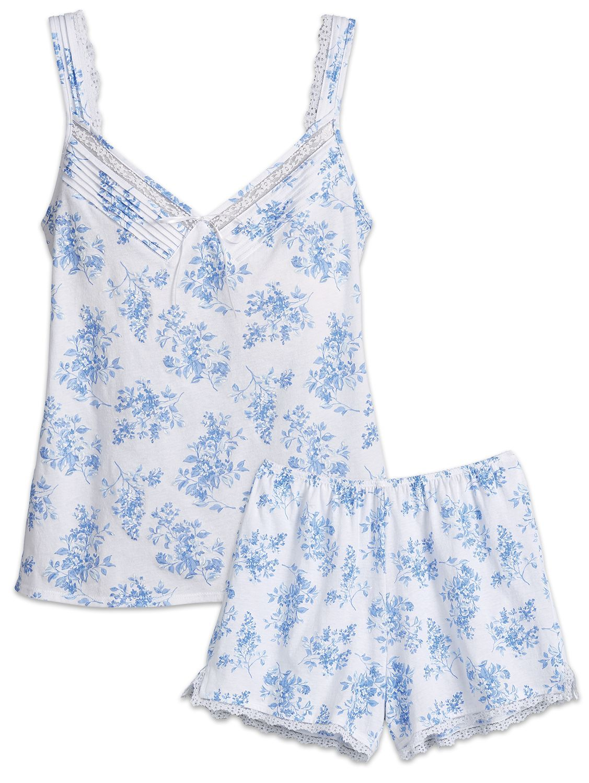 Eileen West Blue Floral Sleep Short Set  f19baba7a