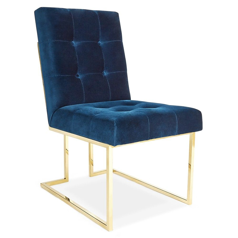 Jonathan Adler Goldfinger Dining Chair - Blue | Dining Chairs & Benches | Dining Room | Furniture | Candelabra, Inc.