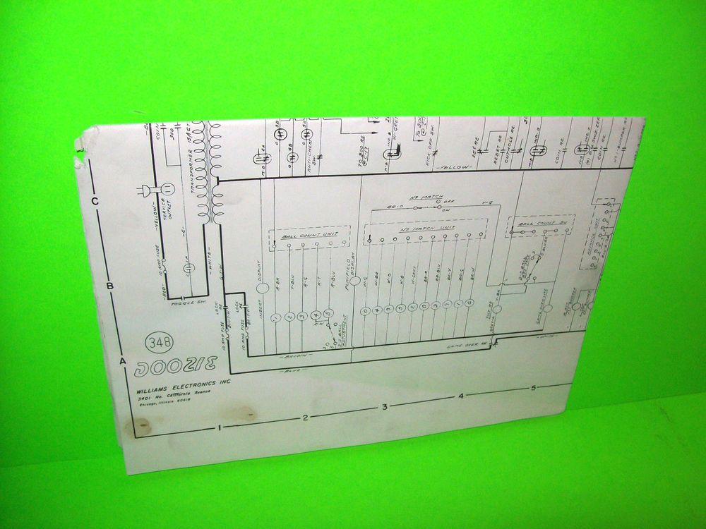 [DIAGRAM_38YU]  Williams DOOZIE 1968 Original Flipper PINBALL MACHINE Schematic Wiring  Diagram | Pinball, Pinball machine, Rock n roll music | Arcade Game Wiring Diagram |  | Pinterest
