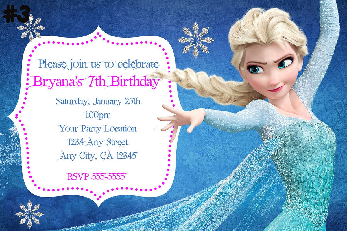happy birthday invitation pictures%0A Frozen Birthday Invitations Wording