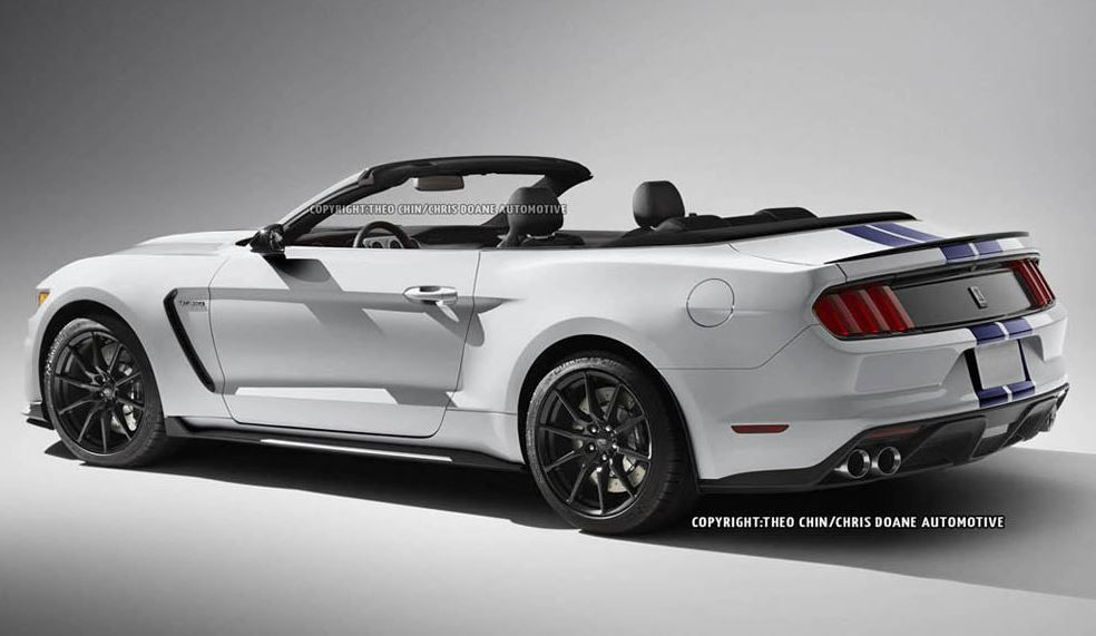 2017 Ford Mustang Shelby Gt350 Convertible Rendered Online