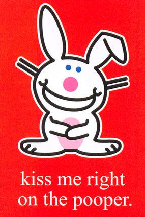 It/'s Happy Bunny I Just Realized I Don/'t Care 4 x 6 Art Postcard NEW UNUSED