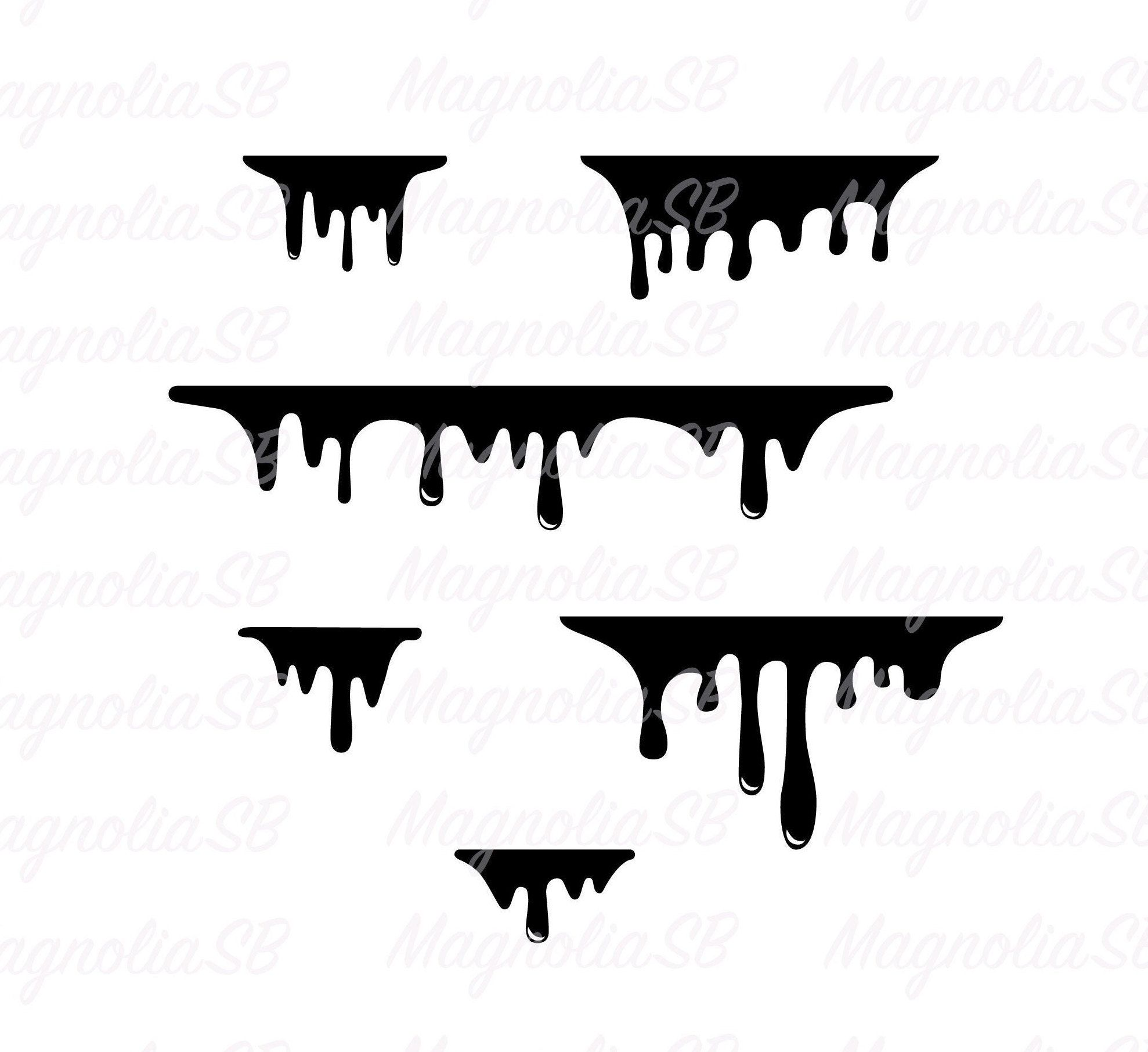 Dripping Svg Dripping Borders Dxf Dripping Png Silhouette Etsy In 2021 Drip Painting Paint Drip Design Painting