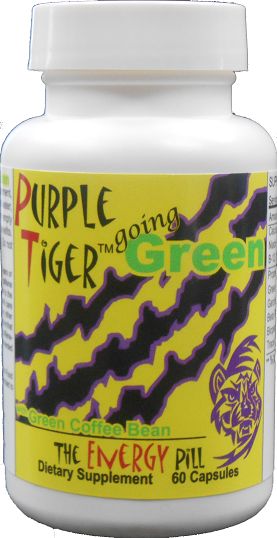 Purple Tiger Going Green With Green Coffee Bean Extract This Formula Takes The Benefits Of 10 Proven Green Coffee Bean Extract Green Coffee Bean Green Coffee