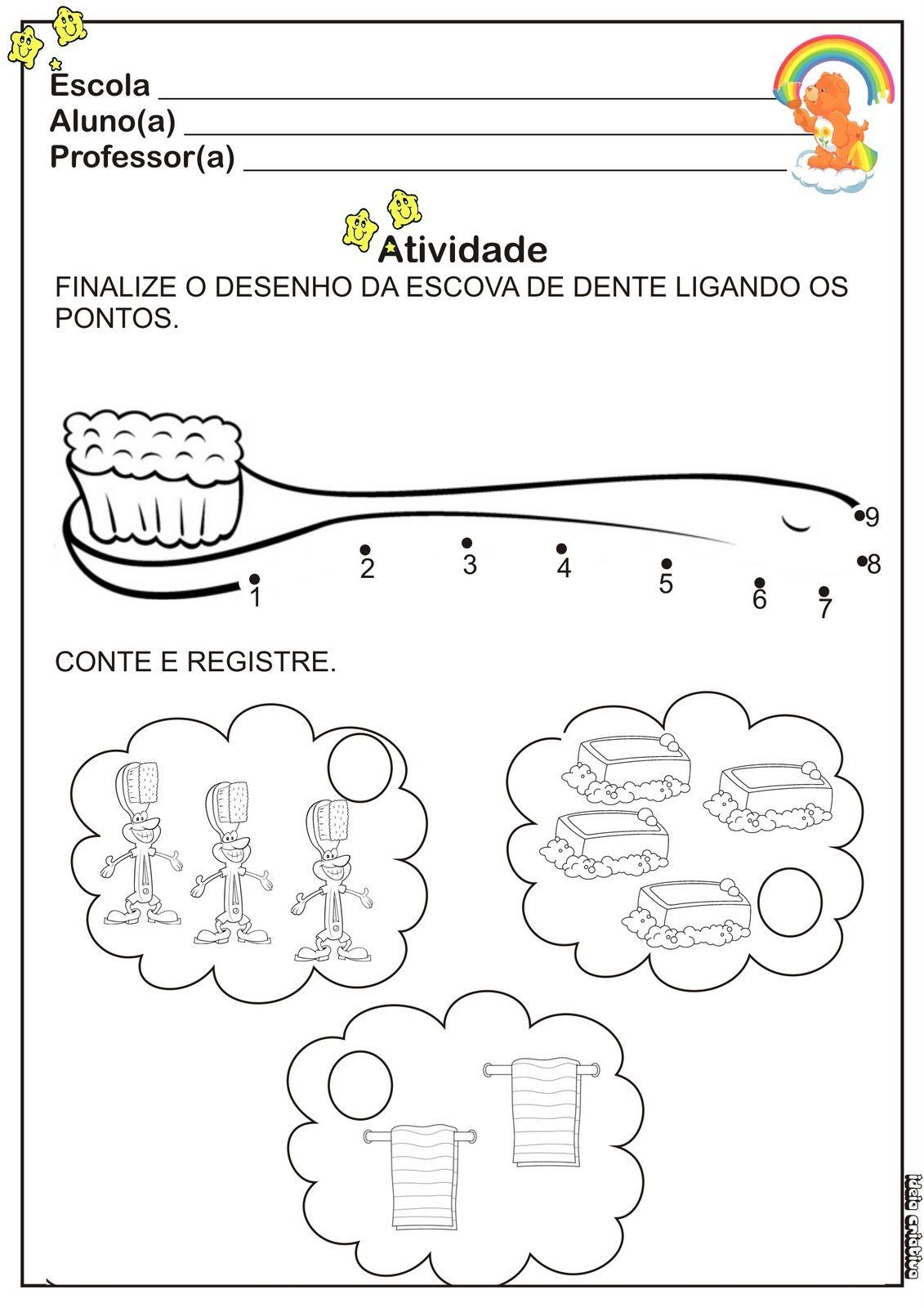 Favoritos Atividade Higiene Liga Pontos | Ideia Criativa - Gi Barbosa  QZ41