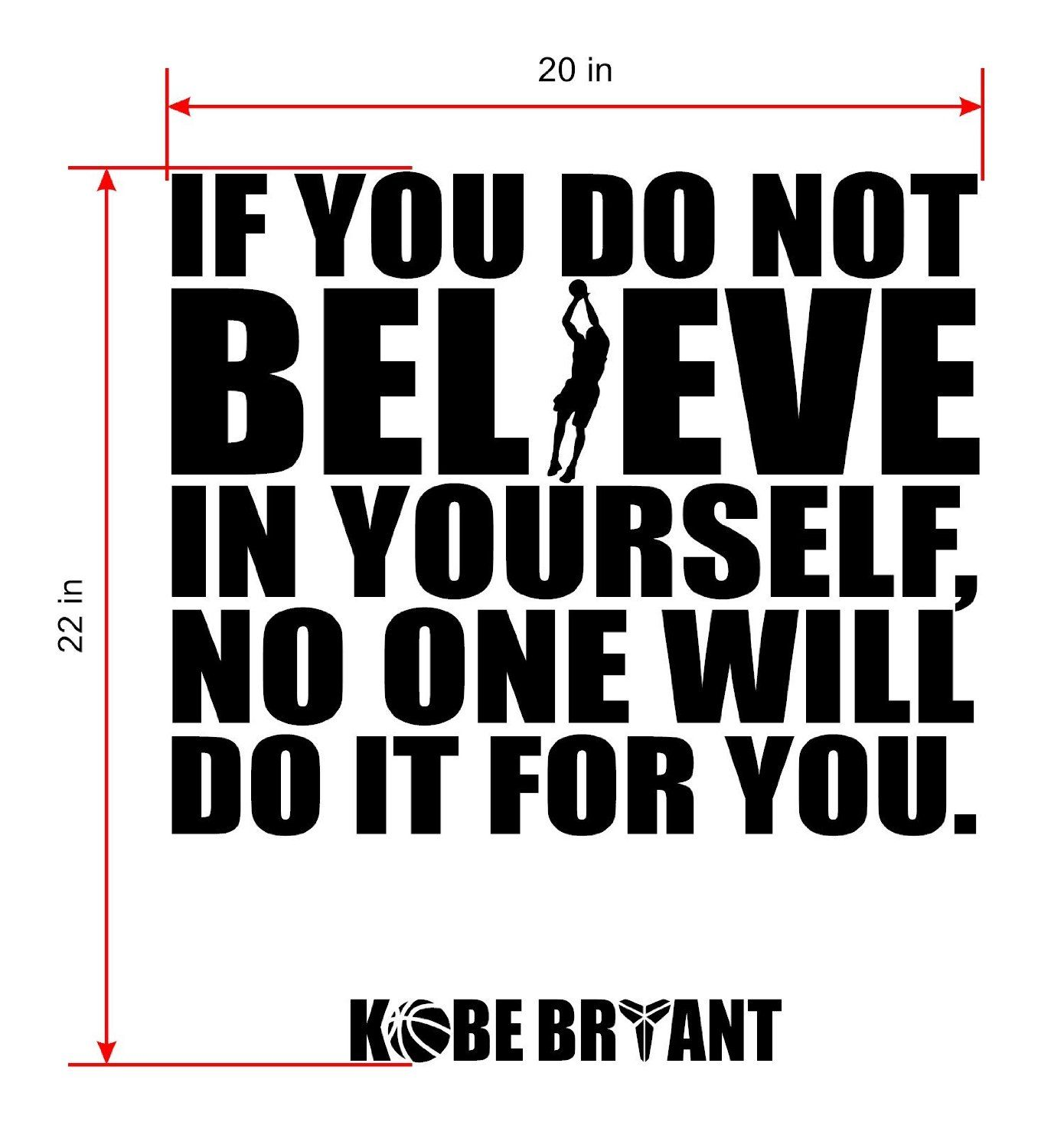 amazon com kobe bryant inspirational quotes wall decor kobe bryant inspirational quotes wall decor basketball wall decals by walldecalsandart inspiring sports nba players wall art decals best quotes designer