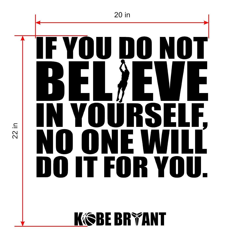 8e580a136729c Amazon.com: Kobe Bryant Inspirational Quotes Wall Decor - Basketball ...